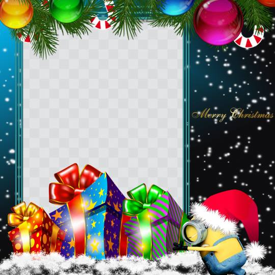 minions merry christmas 2017 profile picture frame facebook - Merry Christmas Minions