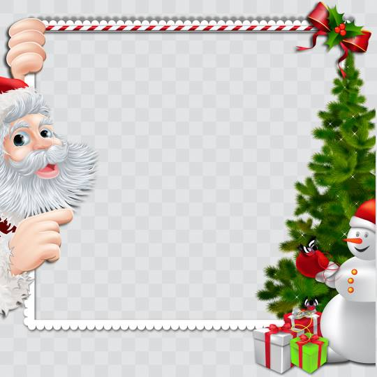 Merry Christmas Santa Claus and Snowmen Profile Picture frames for ...