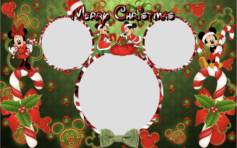 disney christmas profile picture frame with mickey mouse and mini mouse facebook filters and overlays - Mickey Mouse Picture Frames