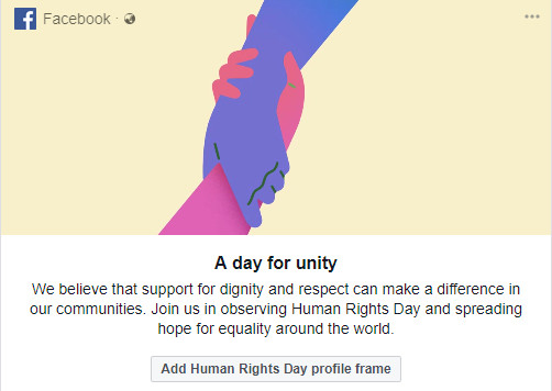 Human Rights Day Facebook Frames Day for Unity - Profile Picture ...
