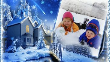 snow winter frame for facebook picture photo frames - Winter Picture Frames