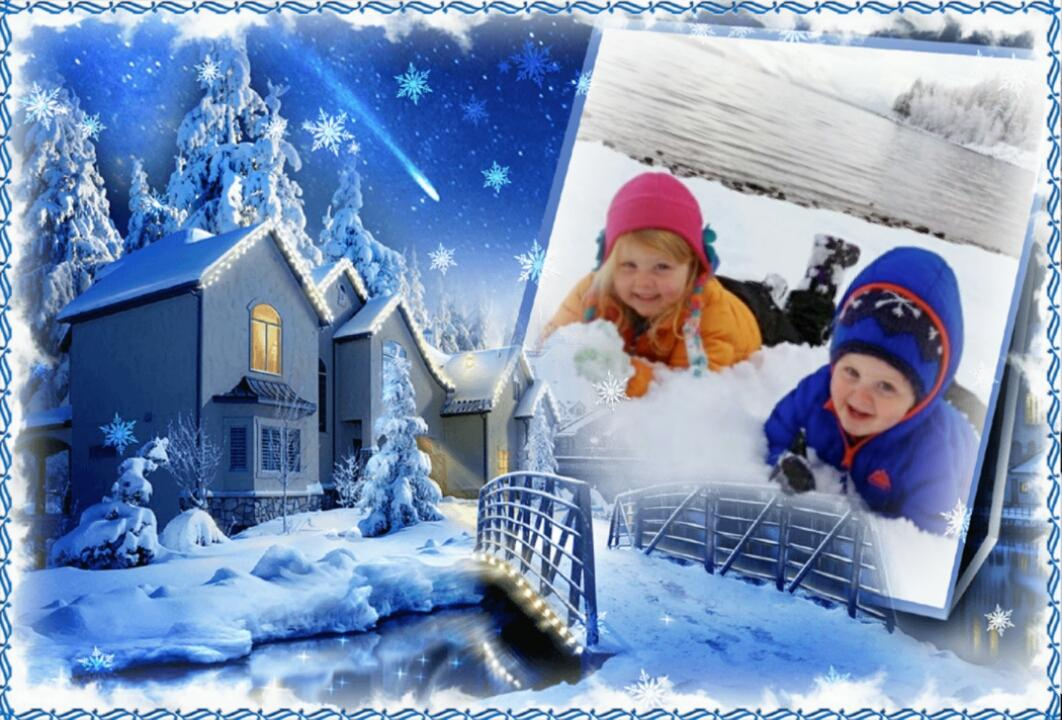 Snow Winter Frame for Facebook Picture Photo Frames - Profile ...