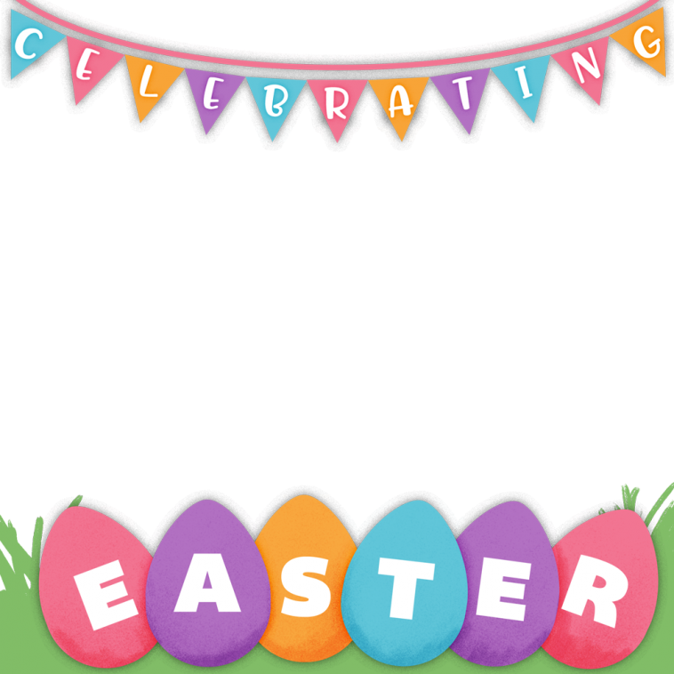 Happy Easter Profile Picture Frame - Profile Picture Frames for Facebook