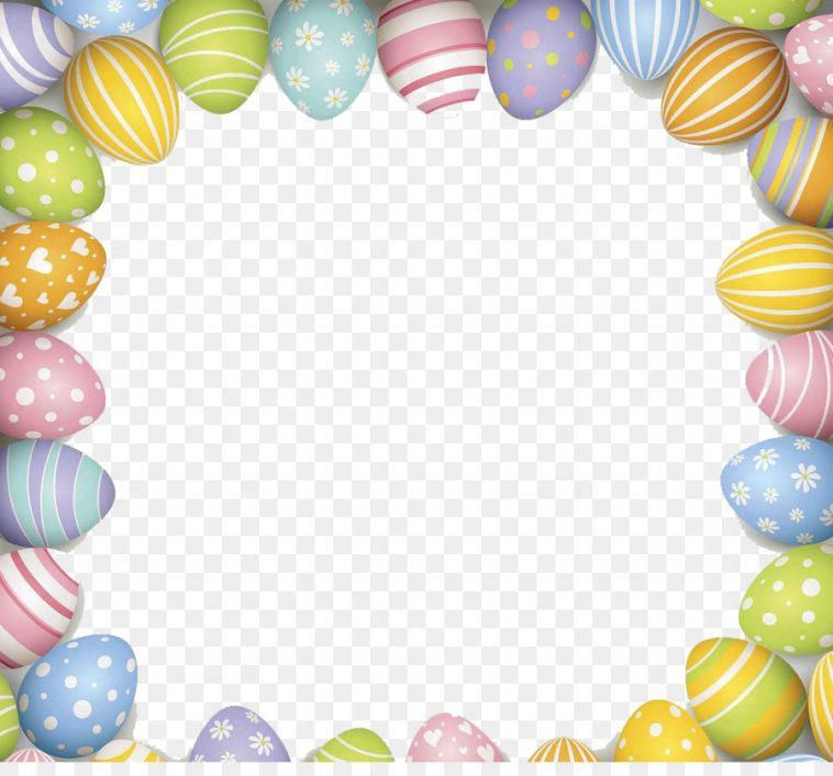 Happy Easter Frame - Bunny Eggs Easter Spring Profile Picture Frames ...