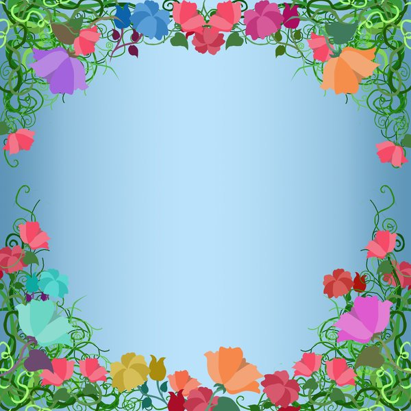 Flower Spring Summer Profile Picture Frames – Facebook photo frame image filter overlay – Spring Flowers