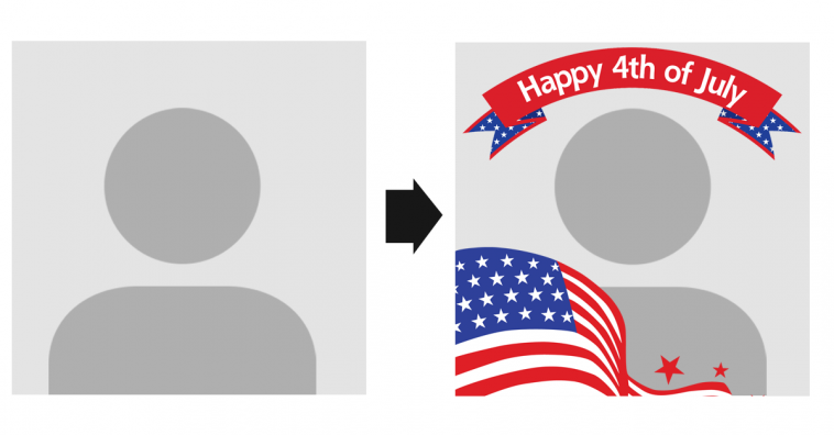 CREATE YOUR PROFILE PICTURE WITH HAPPY 4TH OF JULY FRAME FILTER