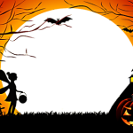 add halloween frame filter overlay to facebook profile picture