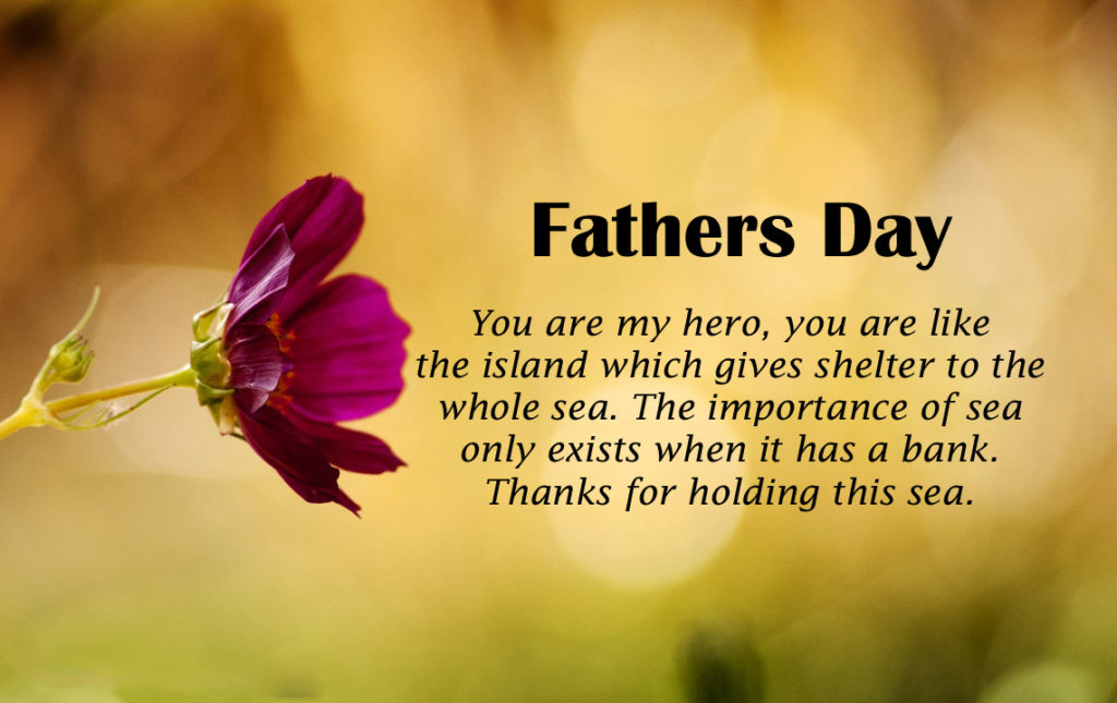 Flowers Love Miss You Fathers Day Wishes Greeting Card Images