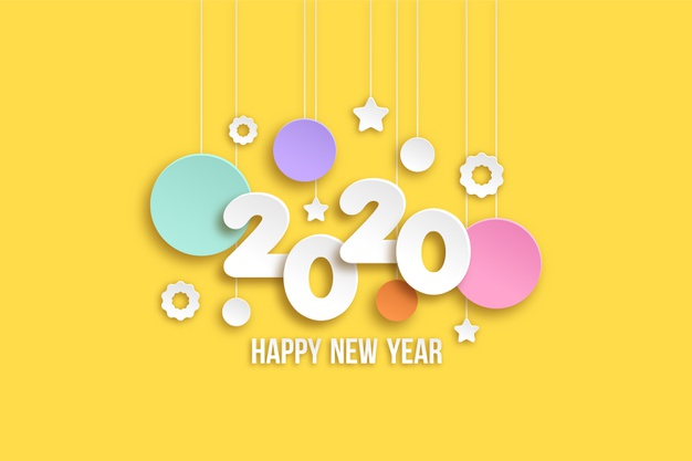 Happy 2020 New Year Wallpaper Header Cover Images For